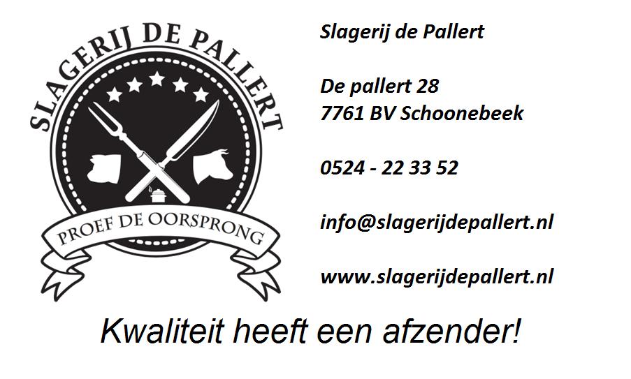 Advertentie Slagerij De Pallert